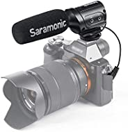 Saramonic SR-M3 Mini Directional Condenser Microphone with Integrated Shockmount, Low-Cut Filter & +10dB A