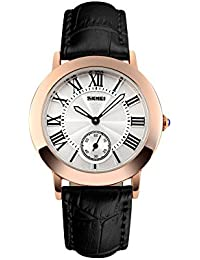 Naivo Women's Quartz Stainless Steel and Leather Color:Black (Model: WATCH-1158)