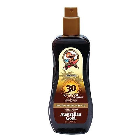 Australian Gold SPF 30 with Instant Bronzer Spray Gel 237ml