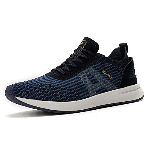 AX BOXING Herren Sportschuhe Laufschuhe Sneaker Atmungsaktiv Leichte Wanderschuhe Trainers Schuhe (43 EU, A9608-Blau)
