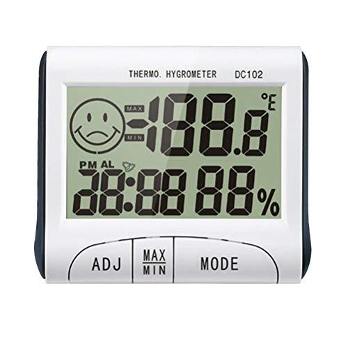 VORCOOL DC102 Mini Digital Indoor Schreibtisch Hygrometer Thermometer Temperatur Luftfeuchtigkeit Meter LCD Display Wecker Timer