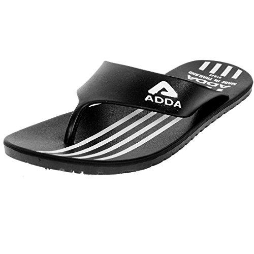Adda Men's Black Synthetic Slipper - 9 UK/India