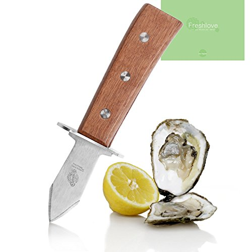 Freshlove Oyster Openning Tool - Premium Quality Pakka Wood-handle Oyster Shucking Tool (24 x 17.5 x 5.5)