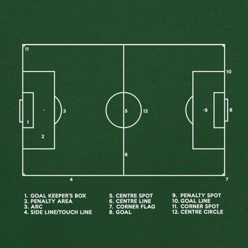 Fussballplatz Diagramm - Herren T-Shirt - 13 Farben Flaschengrün
