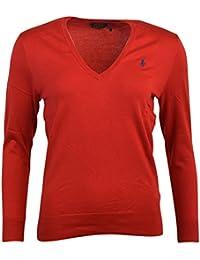Ralph Lauren - Vestido - Casual - para Mujer Rojo Rojo Small