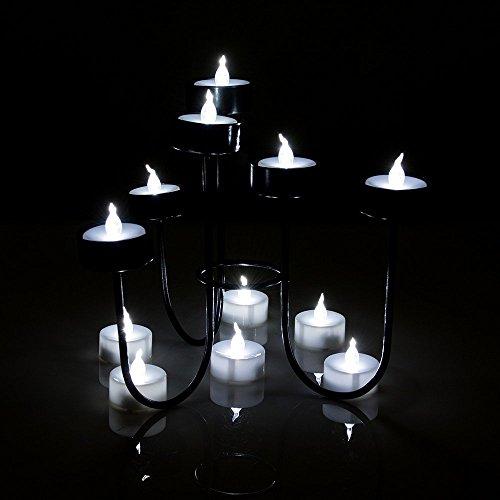 AGPtek [100 Piezas en un Pack] Velas de LED Decorativas Blanca Fría Sin Fuego Velas Eléctricas Operadas por Pila para Bodas Fiestas Decoración