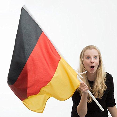 Desconocido Genérico Flagge Deutschland mit Stab (90x 60cm) (60 Stab)