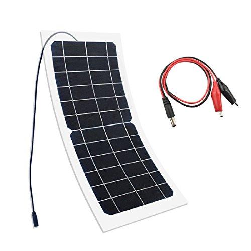 YUANFENGPOWER 10W 6V Solarpanel monokristalline Solarzelle für Camping, Auto, Boot, Kamera, Außenaufladung