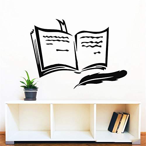 Adesivo murale design libro rimovibile adesivi murali in vinile segnalibro camera dei bambini decorazione studio arte murale complementi arredo casa poster
