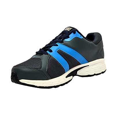 Nike Men's Ballista IV MSL Dark Magnet Grey and Sky Blue Mesh Running Shoes - 6 UK