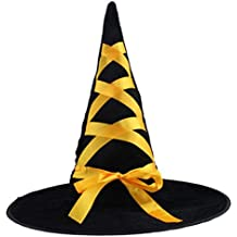 Ruban Ruban Robe Halloween Costume Party Up Sorcière Hat Tip Cap Cosplay-A4