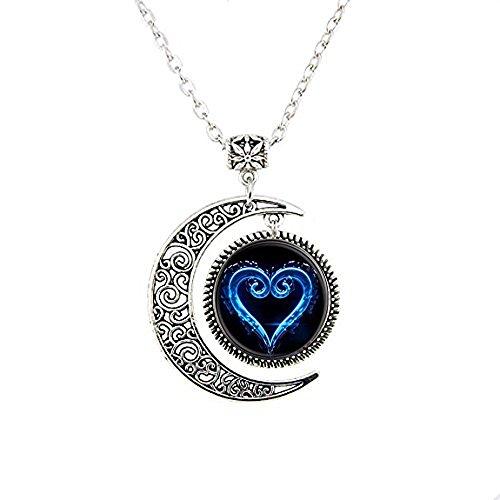 stahpk Kingdom Hearts Halskette Mond Lünette, versilberte amzn4