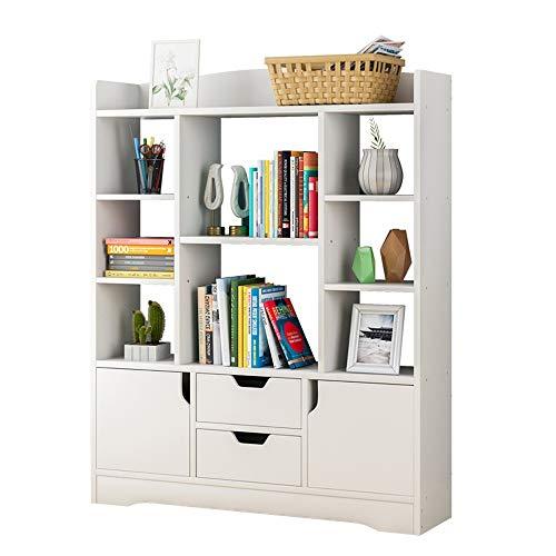 Cvbndfe-HOME Bücherregal Holz Display Rack Speicherorganisator für Bücher, Topfpflanzen, Bilderrahmen (Farbe : Weiß, Größe : 100 * 25 * 120cm) -