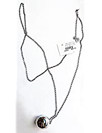 collar de joyería de fantasía 80 cm. Traqueteo de metal-C07856 joyas y bisutería