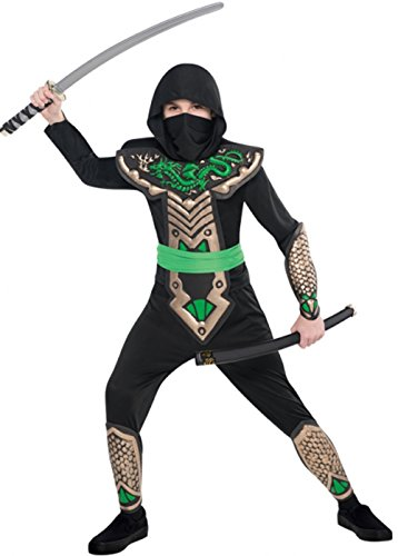 Childrens Größe Dragon Slayer Ninja Kostüm Large 8-10 (Dragon Kostüm Slayer)