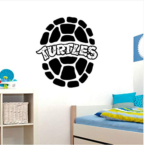 Qqasd Ninja Turtles Wandtattoo Home Interior Kinderzimmer Spielzimmer Dekor Jungen Zimmer Wandkunst Wasserdicht Abnehmbare Aufkleber Diy 42X48 Cm - Ninja Hintergrund Turtle