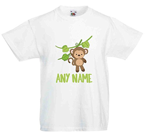 Delizioso Scimmia Giungla personalizzato con qualsiasi nome