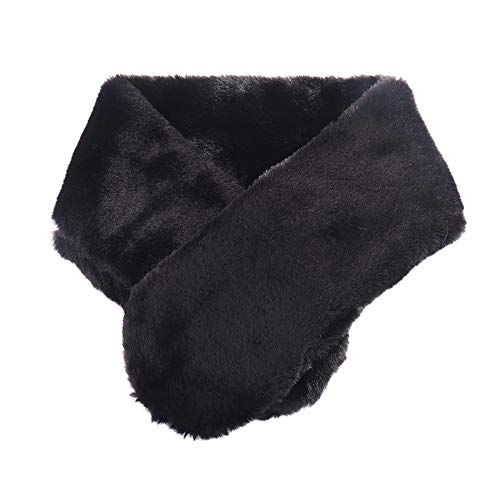 Suave Elegante de la Color sólido de Abrigo de Cuello de Pelo Sintético Bufanda Pura Pañuelos de Pelo para Las Mujeres