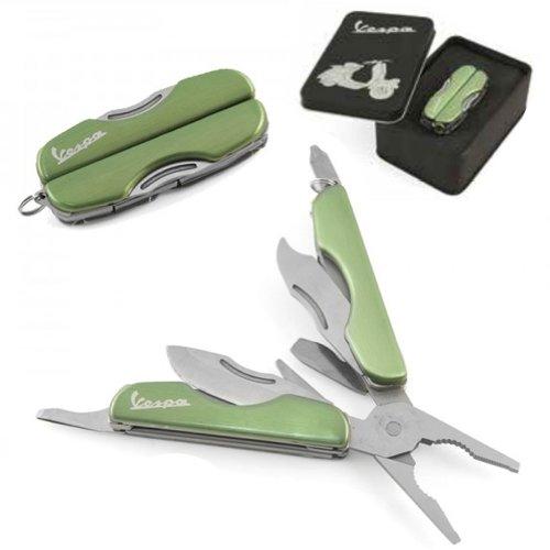Preisvergleich Produktbild Multifunktionswerkzeug FORME VESPA, grün, Stahl, mit 6 praktischen Werkzeugen, in Geschenkbox
