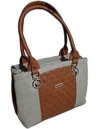 Virgin Ladies Bag 4 Pocket (Brown & Off White)