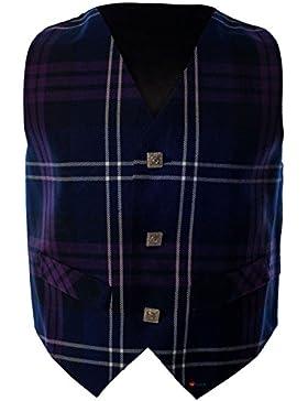Boys Waistcoat, Silk Back Adjustable buckle Heritage of Scotland Tartan 2 year