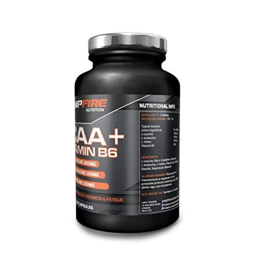 41FoCidU5IL. SS500  - Jumpfire Nutrition BCAA Tablets + Vitamin B6, Amino Acid, Men & Women, Intra-Workout, Pre Workout, Leucine Isoleucine Valine, 2:1:1 Optimum Nutrition Ratio