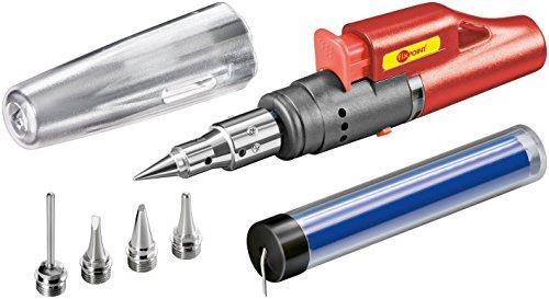 Wentronic Gaslötkolben Set für Feuerzeuggas mit elektrischer Piezo-Zündung