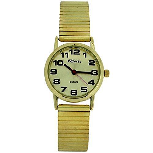 Ravel morbido da donna, in acciaio inox, colore: oro espansione bracciale cinturino r0208.05.2