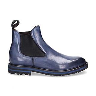 ARTISTI E ARTIGIANI Herren 7189Blue Blau Leder Stiefeletten