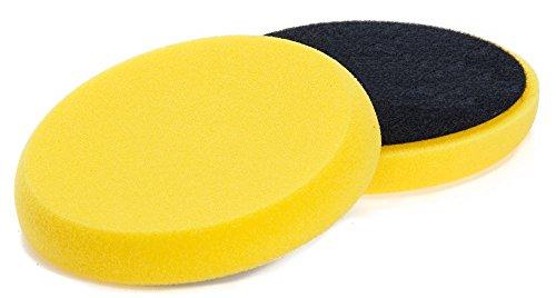 Benbow Auto Polierschwamm 150x 25mm Gelb Pro mit Klettband aus Schwamm und Polierset Poliermaschine Polieraufsatz Autopolitur Pads Polieren Auto Wolle Polierpad Polierteller