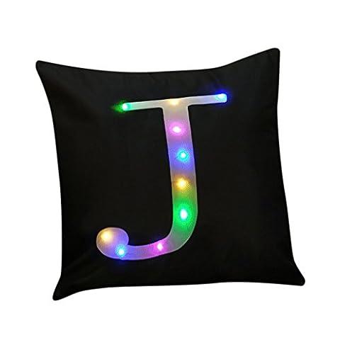 Kissenbezug Vovotrade Blinkende Weihnachtsbeleuchtung LED Kissenbezug Home Decor Throw Sofa Kissenbezug (Solid Gold Taschenuhr)