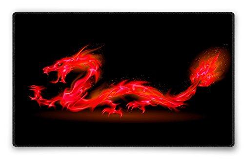 Silent Monsters Tapis de Souris Taille L (360 x 250 mm) Mouse Pad, Motif Dragon Rouge, Approprié pour Souris de Bureau et Souris de Gaming