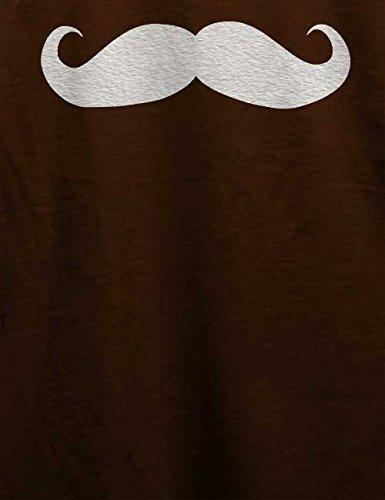 Mustache T-Shirt Braun