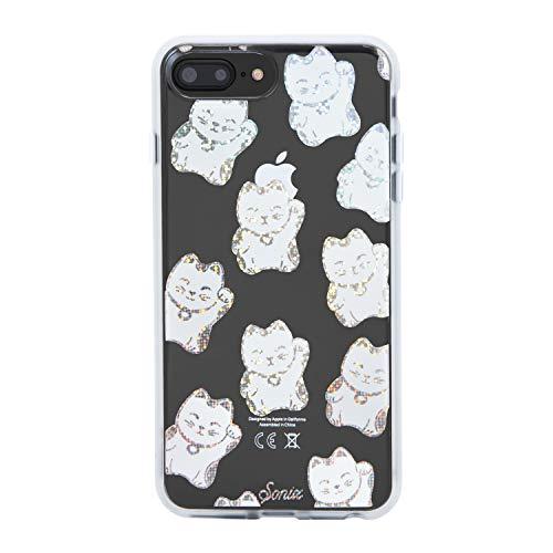 Sonix Disco Kitty Schutzhülle für iPhone 8 Plus, 7 Plus, 6 Plus, 6 Plus, 6 Plus (irisierender Regenbogenkatzen) [Militär-Test-Zertifiziert] Transparente Serie für Apple 6+, 6s+, 7+, 8+