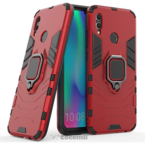 Cocomii Black Panther Armor Huawei Honor 10 Lite/P Smart 2019 Custodia Nuovo [Robusto] Anello Cavalletto [Funziona con Il Supporto Magnetico per Auto] Case Paraurti for Huawei Honor 10 Lite (B.Red)
