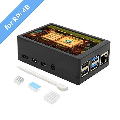 Raspberry Pi 4 Modello B 3.5 pollici Max 50FPS 480x320 TFT Touch Screen con contenitore In ABS Max 50FPS (Supporto Raspbian, Ubuntu, Kali, Retropie Sistema), Raspberry Pi 4 Display LCD