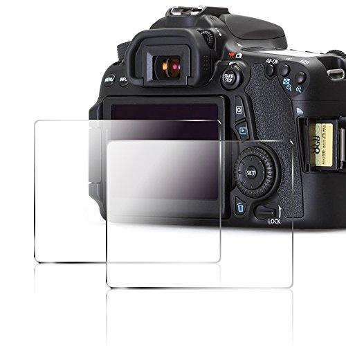 Films de Protection d'Ecran pour Canon 70D 80D, AFUNTA Protecteur de Caméra en Verre Trempé Optique (Pack 2)