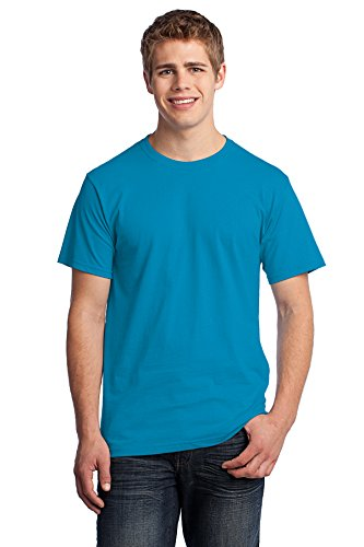 Pacific Knit Shirt (Fruit of the Loom Rmk HD T-Shirt Aquatic Blue Training Shirts (Pack of 72), Pacific Blue, X-Large)