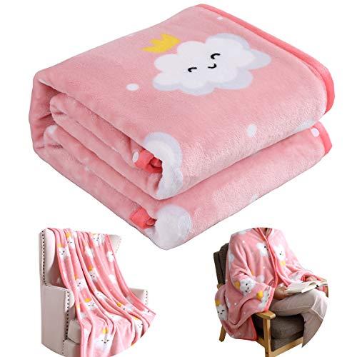 Suzzy Bettwäsche Flanell Fleece tragbare Decke Überwurf für Erwachsene Mikrofaser Funktionelle leichte Decke Poncho für Bett Couch Sofa Stuhl Schlafsaal Reisen Throw (39