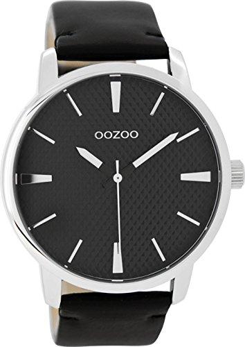 Oozoo Damenuhr mit Lederband 45 MM Schwarz/Schwarz C9024