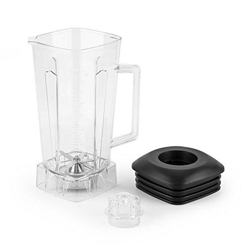 Klarstein Herakles • Jarra de batidora de vaso Herakles de Klarstein • Jarra Adicional • Volumen 2 Litros • Plástico Transparente Sin BPA • Cuchillas acero inoxidable • Tapa de goma negra