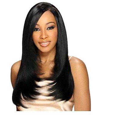 jiayy 18inch 100% indisches Haar, gerade seidig der Halbperücke des Front des menschlichen, 18inch (Blonde 18-zoll-haar-erweiterungen)