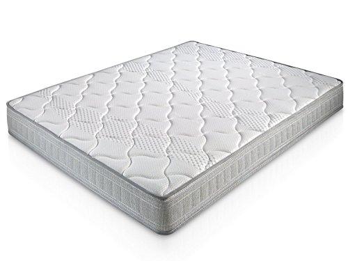 Matelas Paris 140X200 à mémoire de Forme | 18 cm Épaisseur | 2 cm de Mousse à mémoire de Forme de 65 kg/m3 | Foam AirSistem | Extrêmement Durable | Certification ISO 9001®
