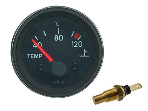 Universal Temperaturanzeige mit Sensor, 40 - 120°C, 12 Volt, Ø 52 mm
