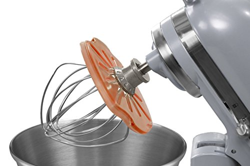 Whisk Wiper® PRO for Stand Mixers - Mix Without The Mess - The Ultimate Stand Mixer Accessory - Compatible with KitchenAid Tilt-Head Stand Mixers - 4.5qt, 5qt (Color: Orange)