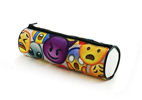 Estuches plumier la tuba caja de lápices ronda multicolor Emoji Big [025]
