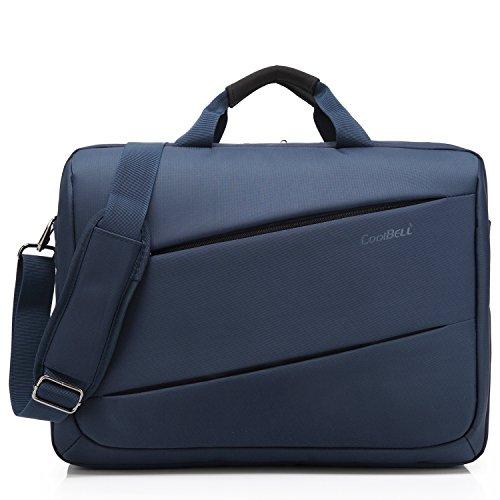 CoolBELL 17,3 Zoll Laptop Tasche Messenger Bag multifunktional Aktentasche mehrfachfach Handtasche mit Schultergurt für Macbook / Acer / HP / Dell Alienware / Lenovo / Herren / Damen, Blau (Notebook Alienware)