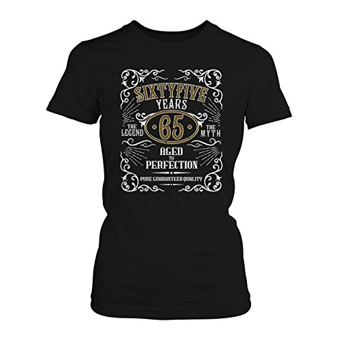 Fashionalarm Damen T-Shirt - Sixtyfive Years Aged To Perfection | Fun Shirt  Whiskey Label