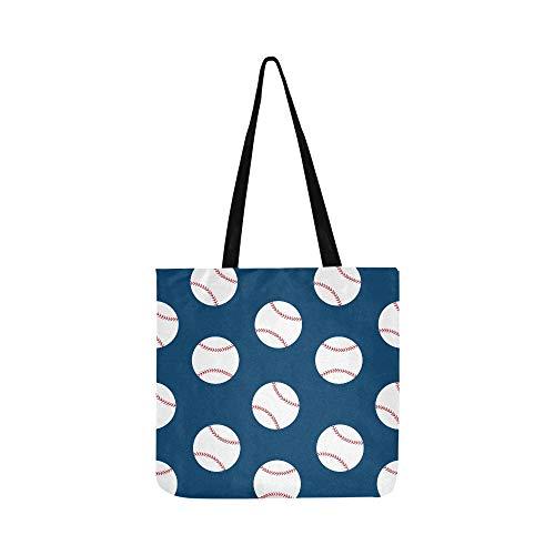 aseball Sport Canvas Tote Handtasche Schultertasche Crossbody Taschen Geldbörsen für Männer und Frauen Einkaufstasche ()