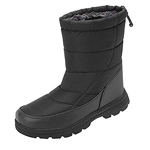 Girls Boot Bag (Ohyoulive Unisex Winter Snow Boots Ankle Boots Cold Weather Warm Shoes with Full Plush)